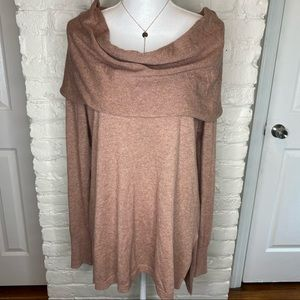 Shrinking Violet Cowl Neck Sweater Size XL